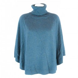 PONCHO POLO NECK WOOL CASHMERE