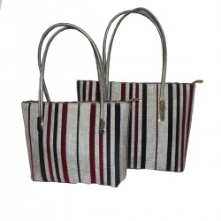 ECOLOGICAL LEATHER AND COTTON BAG