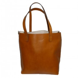 DOUBLE BAG IN GENUINE LEATHER.